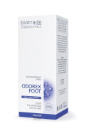 Odorex Foot. Antiperspirant Spray. One Aplication Stops the Sweating for 10 Days