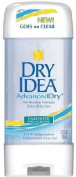 Dry Idea Advanced Dry Antiperspirant & Deodorant, Clear Gel, 24 Hr, Unscented, 90ml