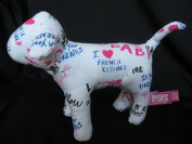 2011 Victoria's Secret 23cm Plush White French Kissing Dog