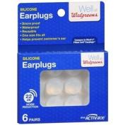 Walgreens Soft Silicone Ear Plugs, 6 pr
