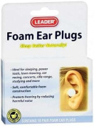 Leader Foam Ear Plugs, 20 CT. Flents
