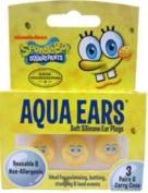 Aqua Ears Ear Plugs - Spongebob Squarepants - One box of three pairs