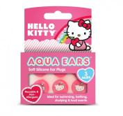 "Aqua Ears ""Hello Kitty"" Soft Silicone Ear Plugs - 3 Pairs"