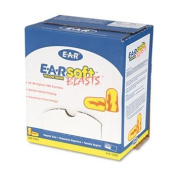E-A-Rsoft Blasts Earplugs, Uncorded, Foam, Yellow Neon/Red Flame, 200 Pairs/Box