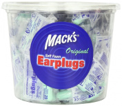 Macks Safesound Original Soft Foam Earplugs, 100-Count