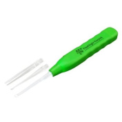 Green Ear Cleaning Tool Earpick with Flashlight and Three Accessories to Remove Ear Wax Easily