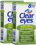 Clear Eyes Maximum Itchy Eye Relief Eye Drops, 15ml