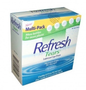 60ml Refresh Tears Lubricant Eye Drops, Moisture Drops for Dry Eyes. 4- 15ml bottles and 1- 5ml bottle