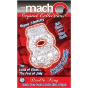 "Brand New Macho Crystal Coll Double Ring (Clear) ""Item Type"