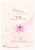 Intimore To Go Feminine Wipes, Intimate Hygiene, 20 Count Boxes