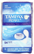 Tampax Pearl Incredibly Thin Liners, Regular, 54 Count