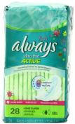 Always Fresh Ultra Thin Scented Pads, Super Long, 28 Ct