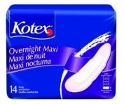 Kotex Overnight Maxi Pads Units Per Pack 14 KBC01400