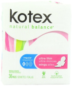 Kotex Ultra Thin Maxi Pads with Wings-36 ct