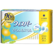 P & G Japan Whisper Sanitary Soft & Dry Slim Napkins with Wings for Moderate Days - 26 pads