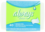 Always Always Wipes Tub Lightly Scented 40 Count