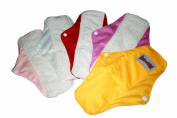 "12 Bamboo Mama Cloth/ Menstrual Pads/ Reusable & Water proof Sanitary Pads / Panty Liners by ""BubuBibi"""