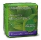 Seventh Generation Ultra Thin Overnight Pads
