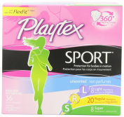 Playtex Sport Unscented Tampon, Multipack Light/regular/super, 36 Count