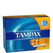 Tampax Super Plus Tampons with Flushable Cardboard Applicator-40 ct