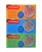 Titania [Retail Packaging] *3 PACK* Pumice Sponge - Made in Germany