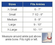 Ankle Supports 40-450 Compressive Ankle Support with Viscoelastic Inserts