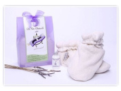 Do Not Disturb Lavender Spa Foot Warmer Bootie Gift Set with Lotion