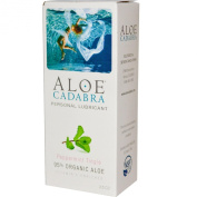 Aloe Cadabra, Organic Personal Lubricant and Natural Vaginal Moisturiser with Aloe Vera and Vitamin E, Peppermint Tingle, 70ml