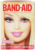 Band-Aid Brand Adhesive Bandages, Barbie Decorated, Assorted, 20 Count