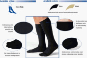 Jobst for Men Casual Support Socks Over-the-Calf 30-40mmHg Extra Large, Black