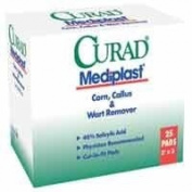 Curad Curad Mediplast Corn Callus & Wart Remover, 5.1cm x 7.6cm , 25 Each