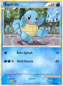 Pokemon Legend HS2 Unleashed Single Card Squirtle #63 Common [Toy]