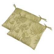 2-Piece Outdoor Rectangle Seat Pad Set - Tropical Woven