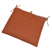 Outdoor Rectangle Seat Pad - Orange Woven