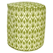 Threshold(TM) Outdoor Round Pouf Footstool - Green Ikat