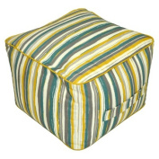 Threshold(TM) Outdoor Rectangular Pouf Footstool - Textured Stripe Cool