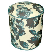 Threshold(TM) Outdoor Round Pouf Footstool - Textured Floral Blue