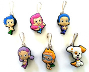 6 pcs Bubble Guppies Zipper Pulls / Zip pull Charms for Jacket Backpack Bag Pendant