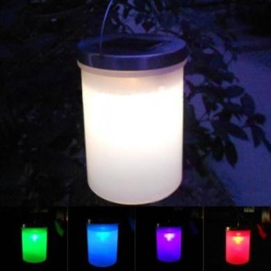 MaxSale Solar Power Hanging Cylinder Lanterns LED Landscape Path Outdoor Ligh