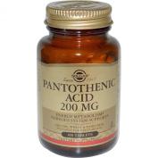 Solgar Pantothenic Acid 200 mg Tablets - 100 tablets