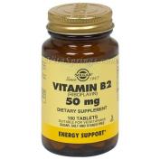 Solgar Vitamin B2 (Riboflavin) 50 mg Tablets
