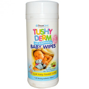 Tushy Derm Baby Wipes, Light Baby Powder Scent, 40 Biodegradable Wipes