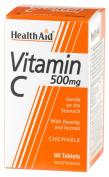 HealthAid Vitamin C 500mg - Chewable - 60 Tablets