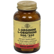 Solgar L-Arginine/L-Ornithine 500/250 mg Vegetable Capsules - 50 Capsules