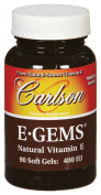 Carlson Labs E-Gems Natural Vitamin E, 400 IU