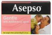 Asepso Gentle with Antibacterial agent (Bar Soap), 80ml