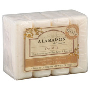 A La Maison de Provence Bar Soap for Hand & Body, Oat Milk, 100ml, 4 Ct
