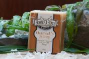 Handmade Herbal 100% Raw Goat Milk Oatmeal 'n Honey Soap