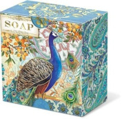 Punch Studio Pleat-Wrapped Boxed Soap-Royal Peacock