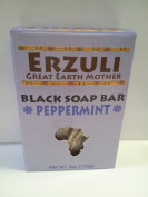 Erzuli Black Soap Bar Peppermint Scent 120ml